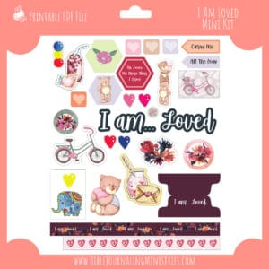 I Am Loved Mini Bible Journaling Kit