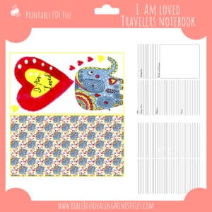 I Am Loved Traveler's Notebook Insert