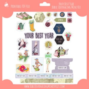Your Best Year Mini Bible Journaling Kit