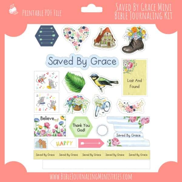 Saved by Grace Mini Bible Journaling Kit