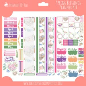 Spring Blessings Planner Kit
