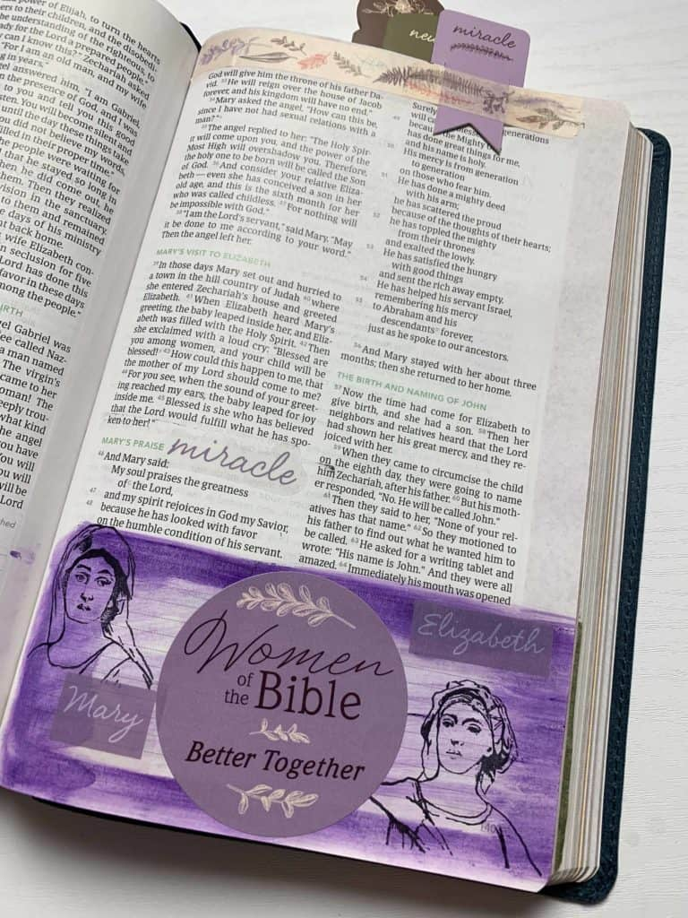 Women of the Bible DaySpring Bible Journaling Kit Mary and Elizabeth
