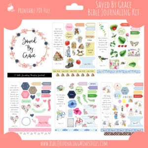 Saved by Grace Bible Journaling Kit and Devotional - April 2019 Kit