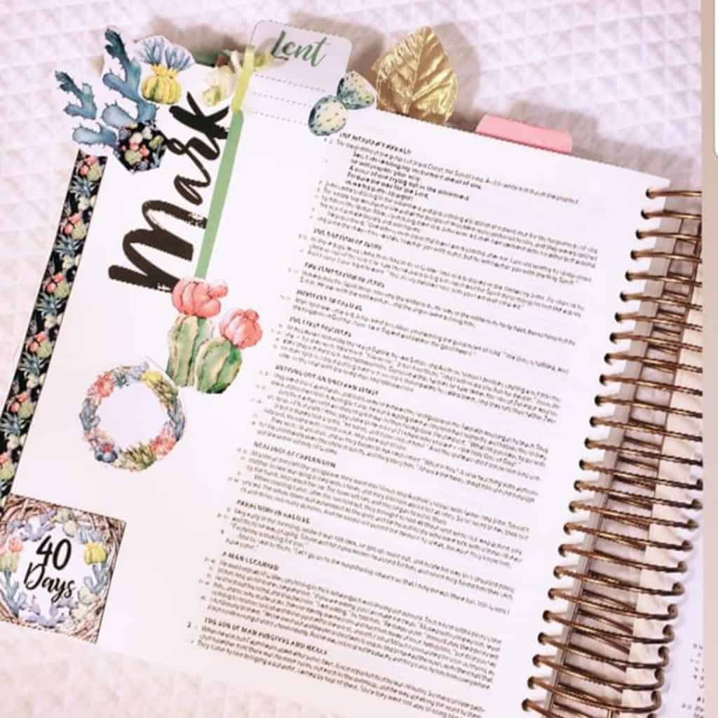Bible Journaling in Mark