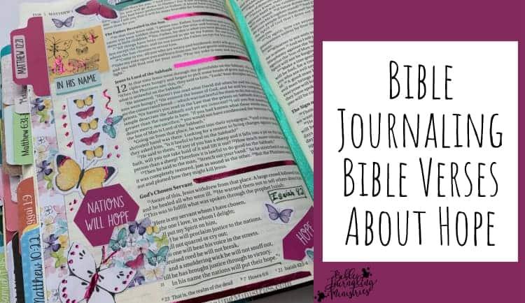 Bible Journaling Bible Verses About Hope
