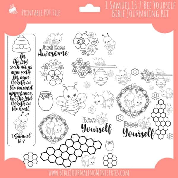 1 Samuel 16:7 Bee Yourself Bible Journaling Kit