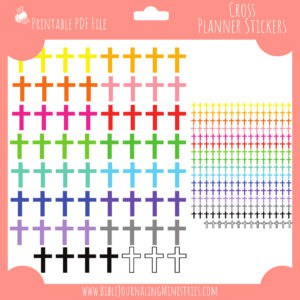 Bible Journaling Ministries Cross Planner Stickers