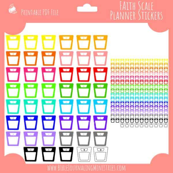 Faith Scale Planner Stickers