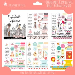 Unshakable Confidence Bible Journaling Kit and Devotional - May 2019 Kit
