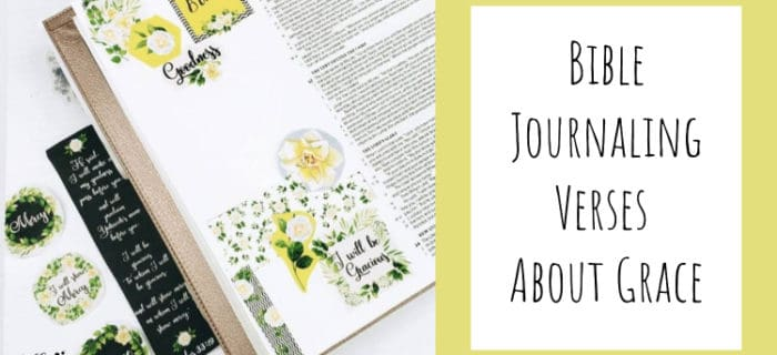 Bible Journaling Bible Verses About Grace