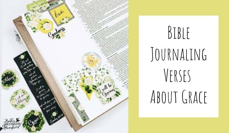 Bible Journaling Bible Verses About Grace