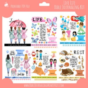 Live Life Bible Journaling Kit and Devotional - August 2019 Kit