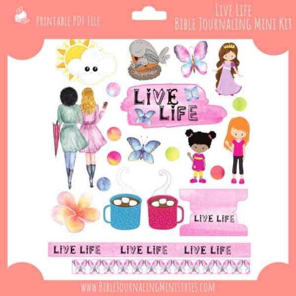 Live Life Mini Bible Journaling Kit
