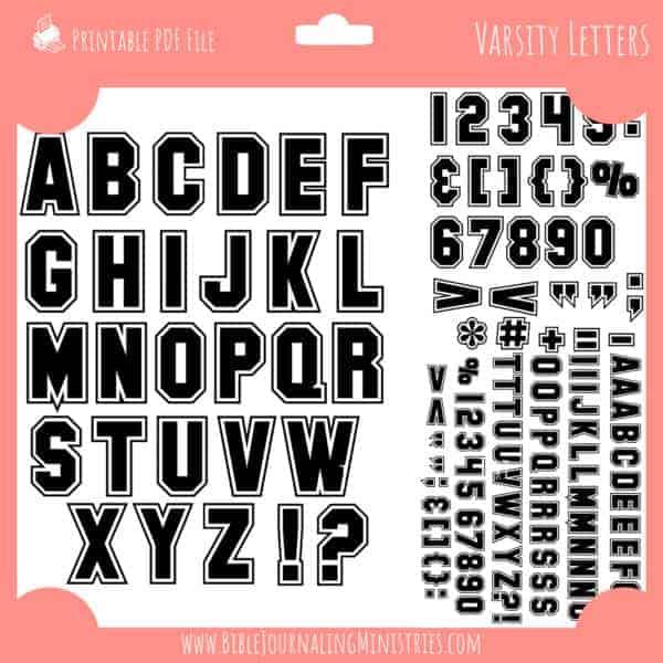 Varsity Letter Basics - Black