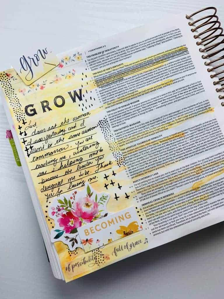holley gerth bible journaling kit 1 corinthians