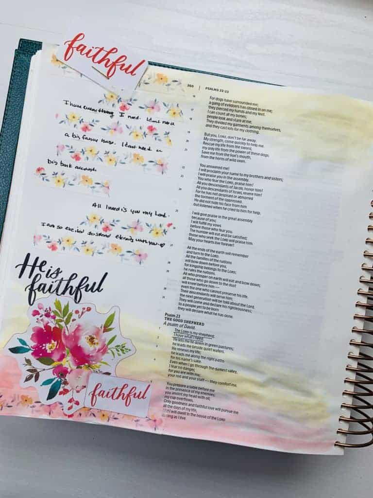 holley gerth bible journaling kit Psalm 23