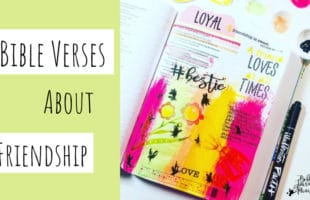 Bible Journaling Bible Verses About Friendship