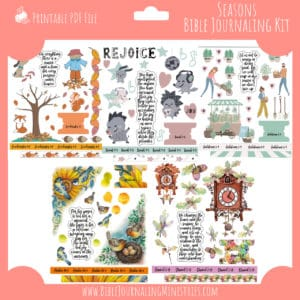 Seasons Bible Journaling Kit and Devotional - September 2019 Kit