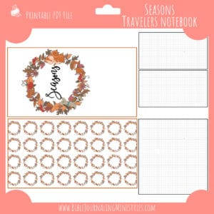 September Notebook Insert
