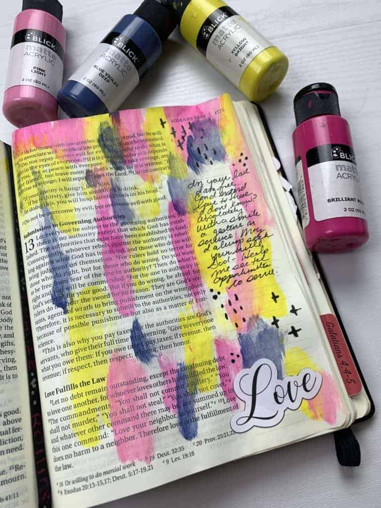 Bible Journaling in Romans