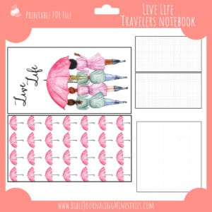 Live Life Notebook Insert