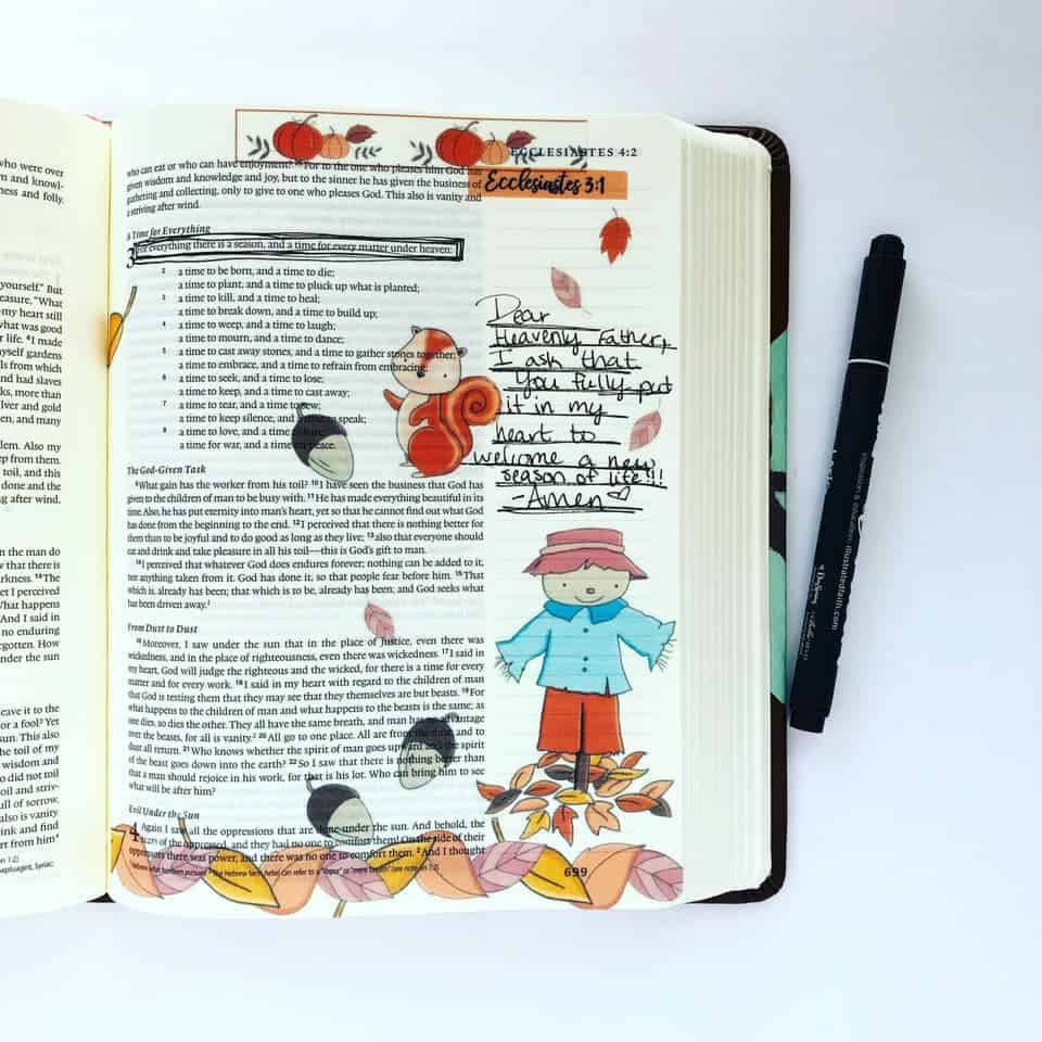 Bible Journaling in Ecclesiastes