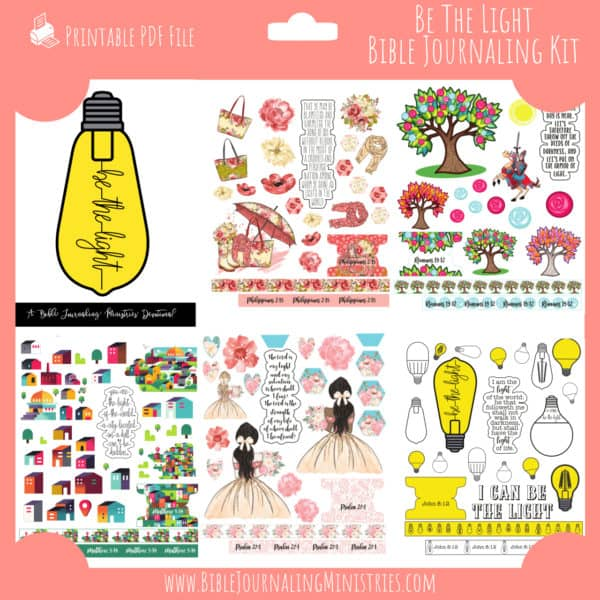 Be The Light Bible Journaling Kit and Devotional - October 2019 Kit