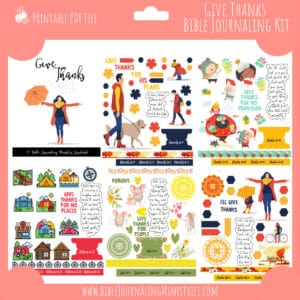 Give Thanks Bible Journaling Kit and Devotional - November 2019 Kit