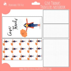 November Notebook Insert