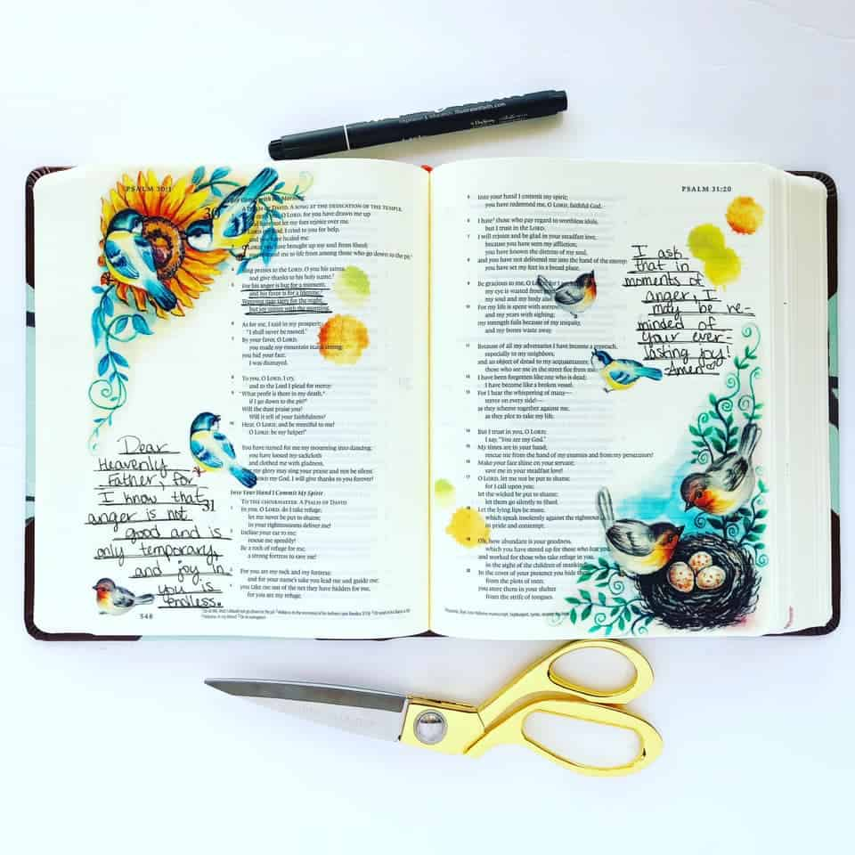 Bible Journaling in Psalm