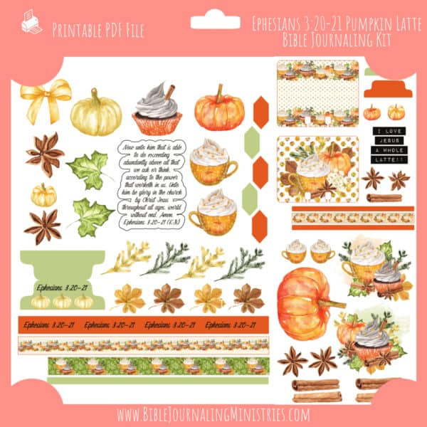 Ephesians 3:20-21 Pumpkin Latte Journaling Kit