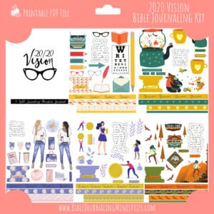 2020 Vision Bible Journaling Kit and Devotional - January 2020 Kit