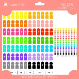 Faith Bottle Planner Stickers
