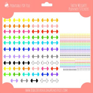 Faith Weights Planner Stickers