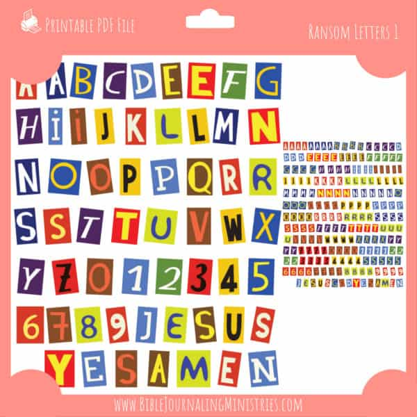 Ransom Letters Planner Stickers