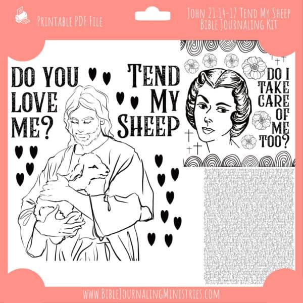 John 21:14-17 Tend My Sheep Journaling Kit