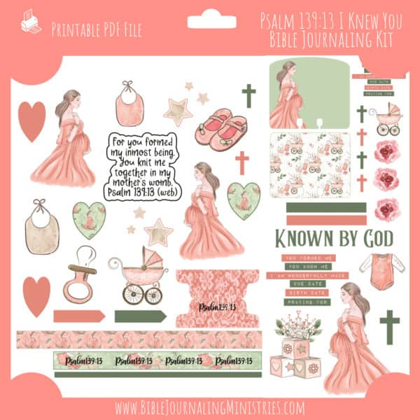 Psalm 139:13 I Knew You Journaling Kit