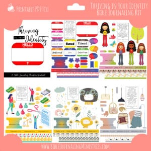 Thriving in Your Identity Bible Journaling Kit and Devotional - February 2020 Kit