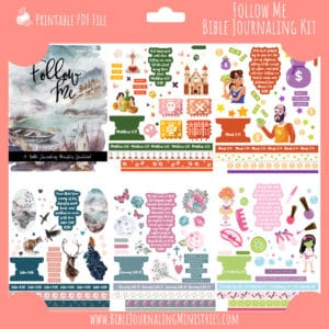 Follow Me Bible Journaling Kit and Devotional - May 2020 Kit