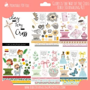 Glory is the Way of the Cross Bible Journaling Kit and Devotional - April 2020 Kit