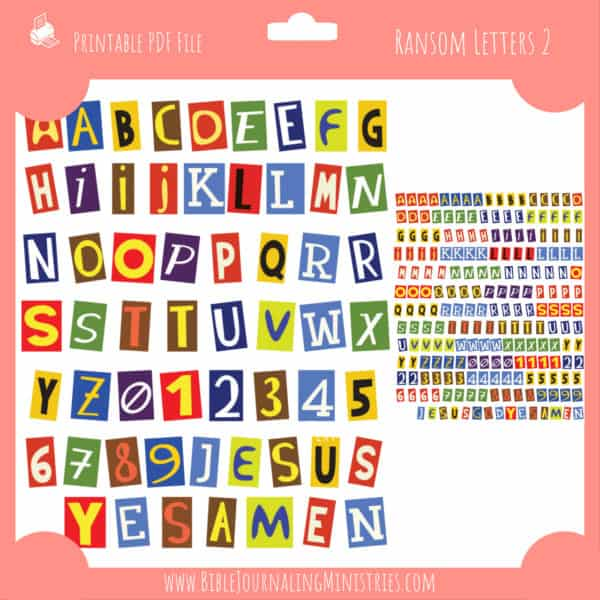Ransom Letters 2 Planner Stickers