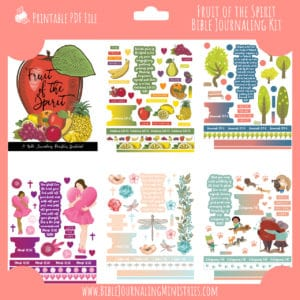 Fruit of the Spirit Bible Journaling Kit and Devotional - July 2020 Kit