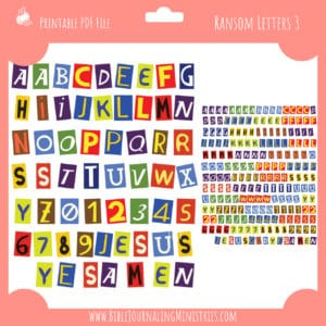 Ransom Letters 3 Planner Stickers