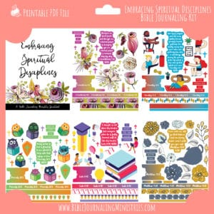 Embracing Spiritual Disciplines Bible Journaling Kit and Devotional - August 2020 Kit