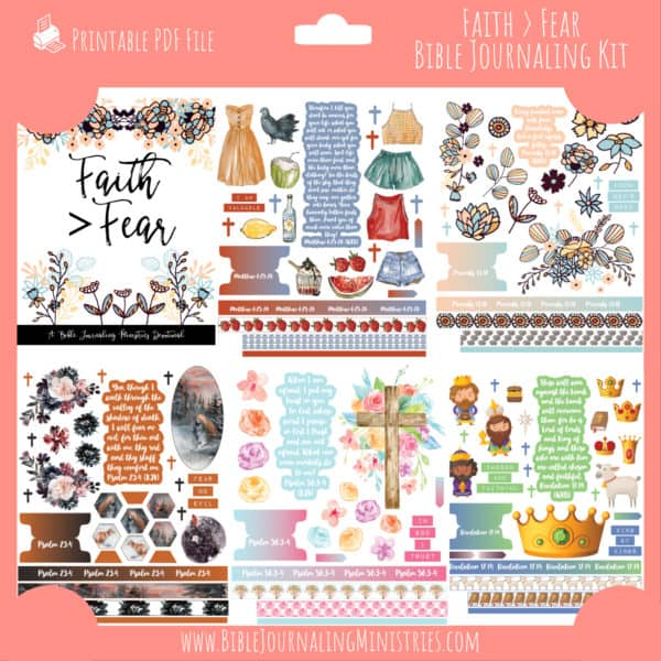Faith > Fear Bible Journaling Kit and Devotional - October 2020 Kit