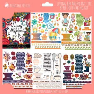 Living An Abundant Life Bible Journaling Kit and Devotional - November 2020 Kit