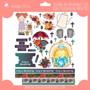 Living An Abundant Life Mini Bible Journaling Kit