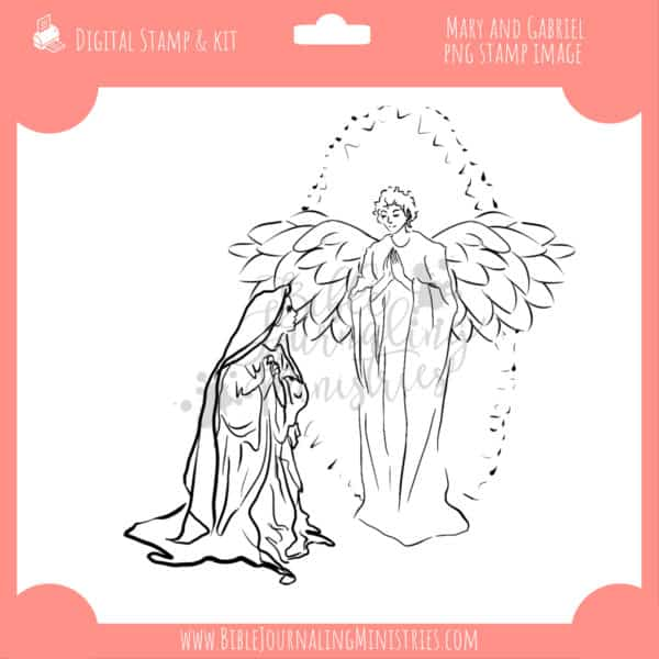 Mary and Gabriel Digital Stamp