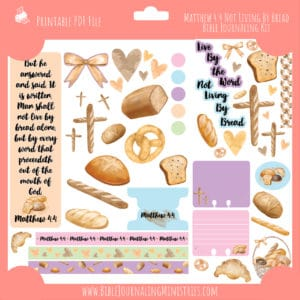 Matthew 4:4 - Not Living By Bread Journaling Kit