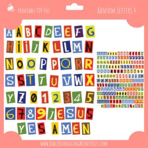 Ransom Letters 4 Planner Stickers